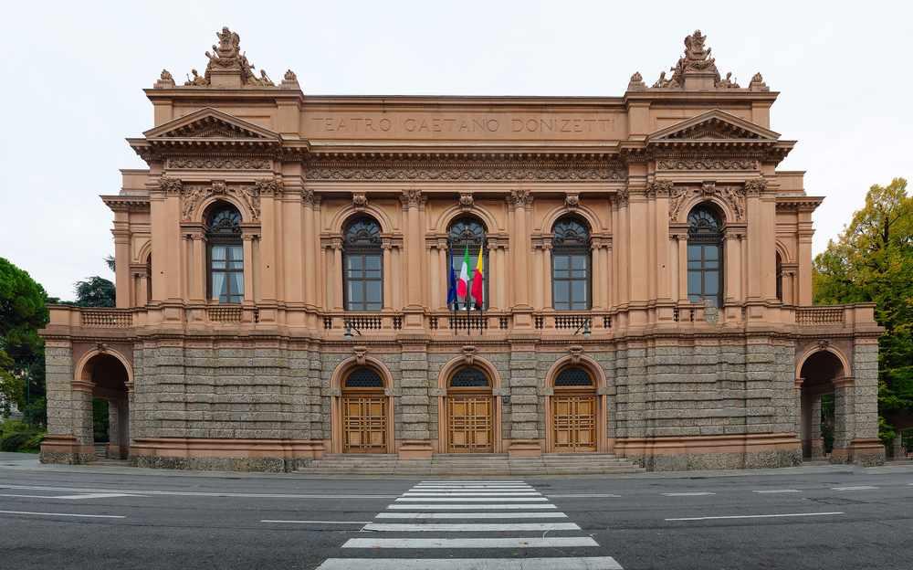 il teatro Donizetti a Bergamo