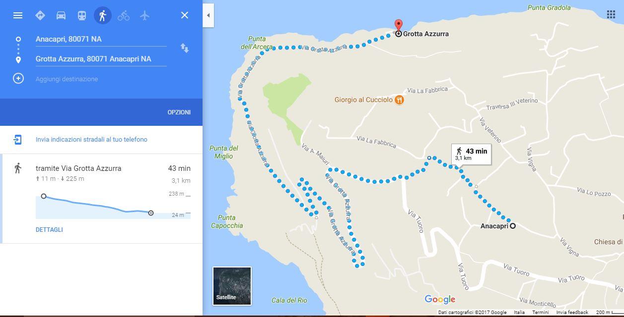 percorso anacapri grotta azzurra
