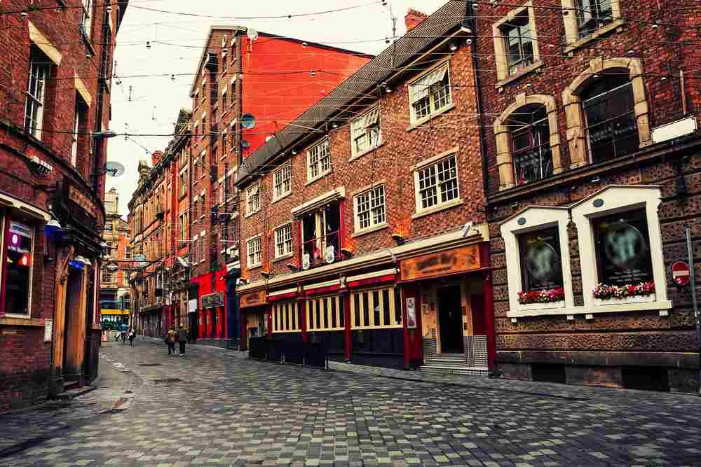 strada caratteristica a Liverpool