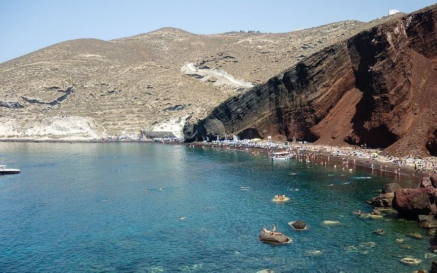 Spiaggia Red Beach Santorini