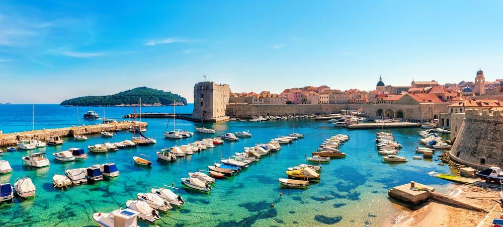 Dubrovnik panorama città