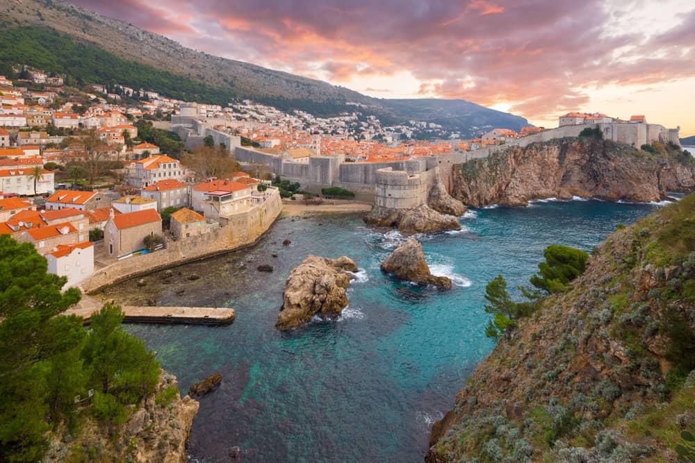 Dubrovnik tramonto