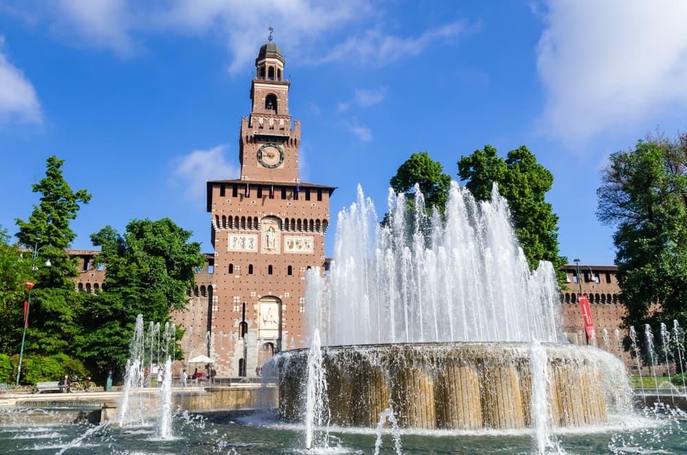Milano il castello Sforzesco
