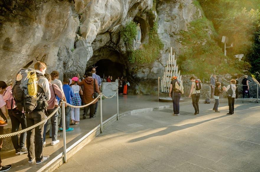 La grotta di Lourdes