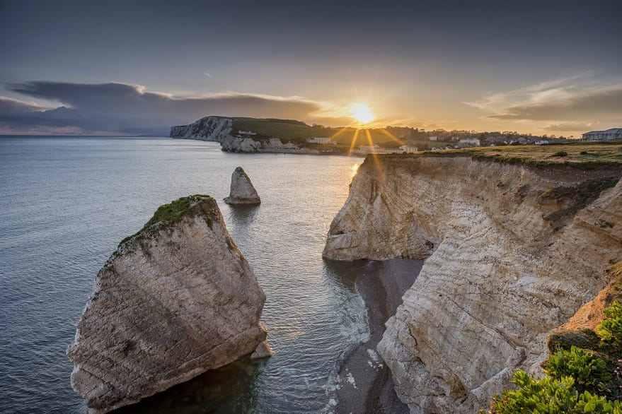 Isola di Wight tramonto