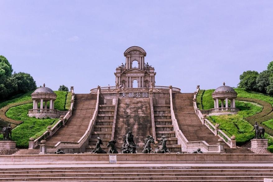 Porta del mondo in Cina