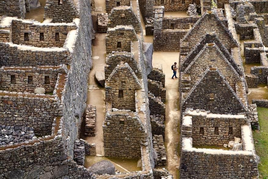 Machu Pichu rovine villaggio