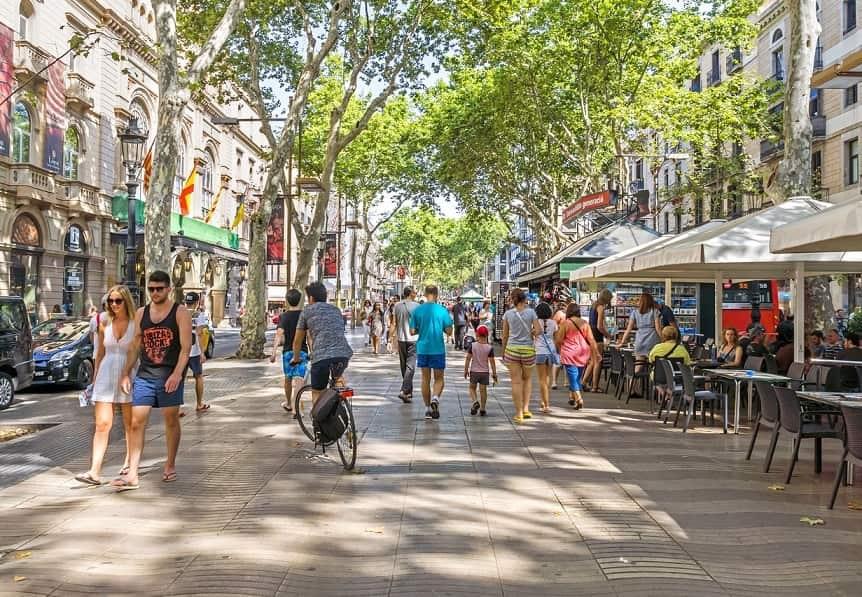 La ramnbla Barcellona