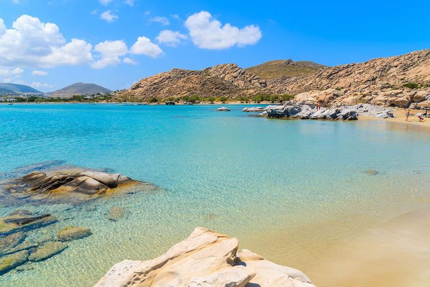 Spiaggia Kolymbithres a Paros