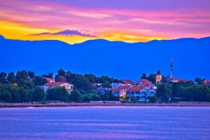 Isola di Vir tramonto