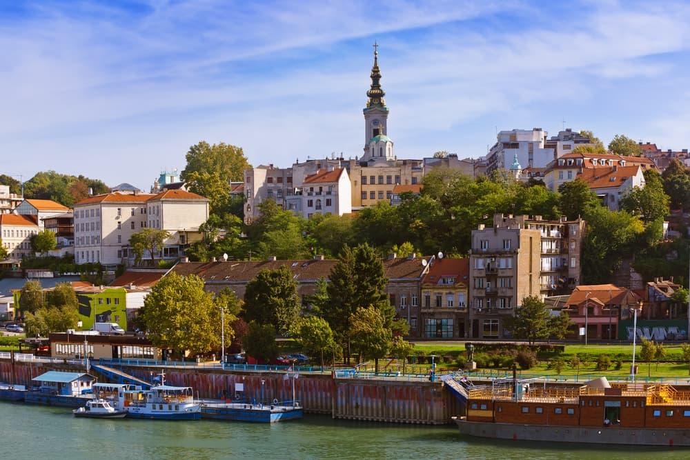 Belgrado panorama città