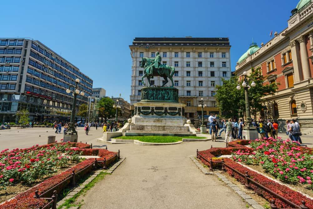 Belgrado piazza della Repubblica