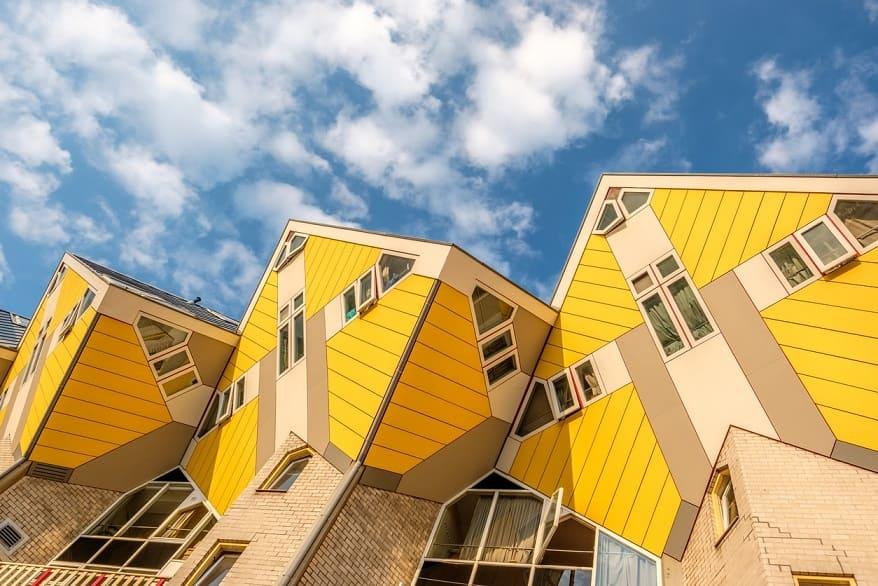 case cubiche gialle Rotterdam