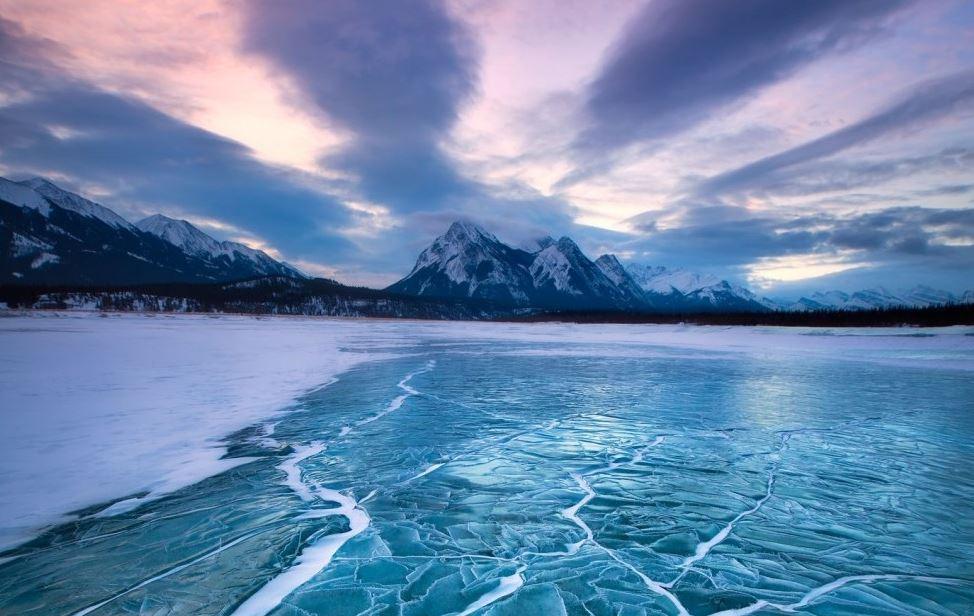 Lago ghiacciato di Abraham